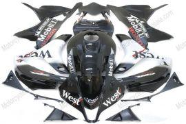 Honda CBR 600RR F5 2007-2008 Carénage ABS Injection - West  - noir/blanc