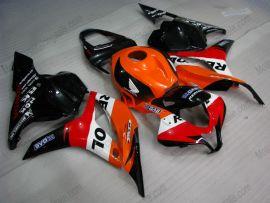 Honda CBR 600RR F5 2009-2012 Carénage ABS Injection - Repsol - orange/noir