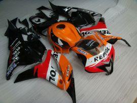Honda CBR 600RR F5 2009-2012 Carénage ABS Injection - Repsol - orange/noir/rouge