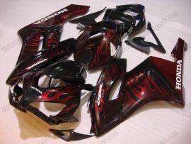 Honda CBR1000RR 2004-2005 Carénage ABS Injection - Flame - noir/rouge