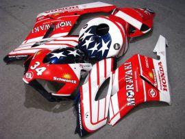 Honda CBR1000RR 2004-2005 Carénage ABS Injection - Moriwaki - blanc/rouge