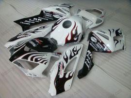 Honda CBR1000RR 2004-2005 Carénage ABS Injection - Flame rouge - blanc/noir