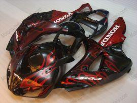 Honda CBR1000RR 2006-2007 Carénage ABS Injection - Flame - rouge Flame(noir)