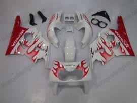 Honda CBR400RR NC29 1990-1998 Carénage ABS - Flame rouge - blanc