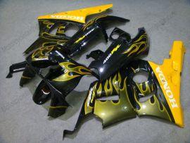 Honda CBR400RR NC29 1990-1998 Carénage ABS - Flame jaune - noir