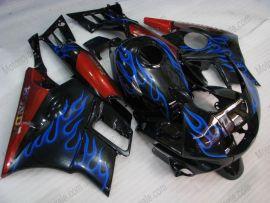Honda CBR600 F2 1991-1994 Carénage ABS - Flame bleu - noir/rouge