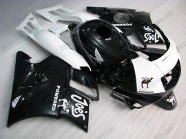 Honda CBR600 F2 1991-1994 Carénage ABS - Camel - noir/blanc