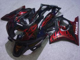 Honda CBR600 F3 1995-1996 Carénage ABS Injection - Flame - noir/rouge