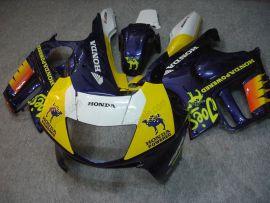 Honda CBR600 F3 1997-1998 Carénage ABS Injection - Camel - bleu/jaune