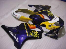 Honda CBR600 F4 1999-2000 Carénage ABS Injection - Camel - jaune/bleu