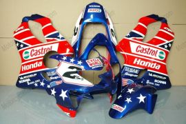 Honda CBR600 F4 1999-2000 Carénage ABS Injection - Castrol - bleu/rouge