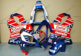 Honda CBR600 F4i 2001-2003 Carénage ABS Injection - Castrol - bleu/rouge/blanc