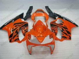 Honda CBR600 F4i 2001-2003 Carénage ABS Injection - Flame noir - orange