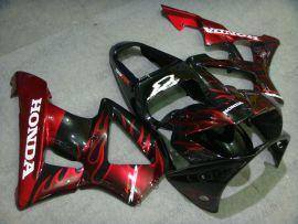 Honda CBR900RR 929 2000-2001 Carénage ABS - Flame - rouge Flame(noir)