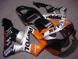 Honda CBR900RR 929 2000-2001 Carénage ABS - Repsol - noir/argent/orange