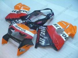 Honda VFR800 1998-2001 Carénage ABS - Repsol - orange/noir/rouge