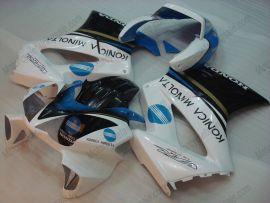 Honda VFR800 2002-2009 Carénage ABS Injection - Konica Minolta - noir/bleu/blanc