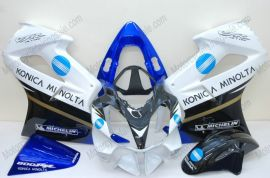 Honda VFR800 2002-2013 Carénage ABS Injection - Konica Minolta - blanc/noir/bleu