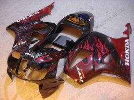 Honda VTR1000 RC51 2000-2006 Carénage ABS - Flame rouge - noir