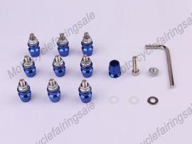 10pcs moto universel décoratif vis M5 X 16mm alliage bleu