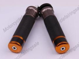 """moto universelle 22mm 7/8"""" couple traiter bar poignées doré carbone tissu matériel"""