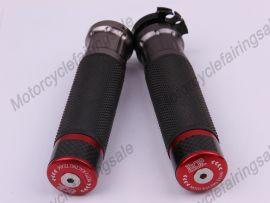 """moto universelle 22mm 7/8"""" couple traiter bar poignées rouge carbone tissu matériel"""