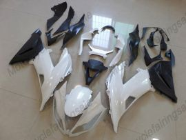 Kawasaki NINJA ZX6R 2013-2015 Carénage ABS Injection - Factory Style - blanc/noir
