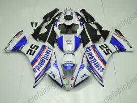 Yamaha YZF-R1 2012-2014 Carénage ABS Injection - Factory Style - bleu/blanc