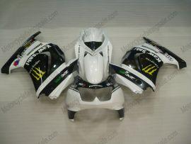 Kawasaki NINJA EX250 2007-2009 Carénage ABS Injection - Monster - blanc/noir