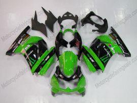 Kawasaki NINJA EX250 2007-2009 Carénage ABS Injection - Monster - vert/noir