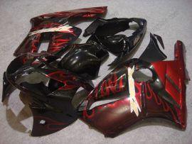 Kawasaki NINJA ZX12R 2002-2005 Carénage ABS - Flame rouge - noir