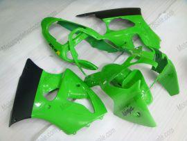 Kawasaki NINJA ZX6R 2000-2002 Carénage ABS Injection - autres - vert/noir