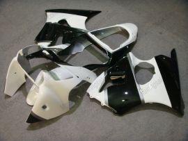 Kawasaki NINJA ZX6R 2000-2002 Carénage ABS Injection - autres - blanc/noir