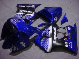Kawasaki NINJA ZX6R 2000-2002 Carénage Race ABS Injection - Nakano - bleu/noir