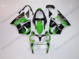 Kawasaki NINJA ZX6R 2000-2002 Carénage ABS Injection - Monster - vert/noir