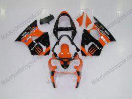 Kawasaki NINJA ZX6R 2000-2002 Carénage ABS Injection - Monster - orange/noir