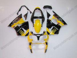 Kawasaki NINJA ZX6R 2000-2002 Carénage ABS Injection - Monster - jaune/noir