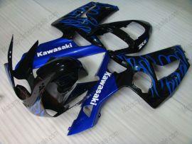 Kawasaki NINJA ZX6R 2003-2004 Carénage ABS Injection - Flame bleu - noir