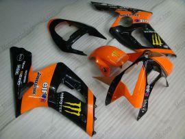 Kawasaki NINJA ZX6R 2003-2004 Carénage ABS Injection - Monster - orange/noir