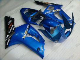 Kawasaki NINJA ZX6R 2003-2004 Carénage ABS Injection - autres - noir/bleu