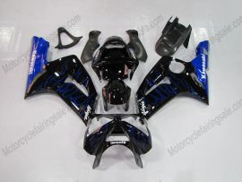 Kawasaki NINJA ZX6R 2003-2004 Carénage ABS Injection - Flame bleu- noir
