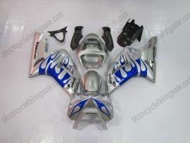 Kawasaki NINJA ZX6R 2003-2004 Carénage ABS Injection - Flame bleu- argent