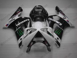 Kawasaki NINJA ZX6R 2003-2004 Carénage ABS Injection - Monster - noir/blanc