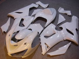 Kawasaki NINJA ZX6R 2005-2006 Carénage ABS Injection - Factory Style - tout blanc