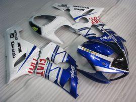 Kawasaki NINJA ZX6R 2005-2006 Carénage ABS Injection - FIAT - bleu/blanc