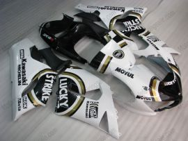 Kawasaki NINJA ZX6R 2005-2006 Carénage ABS Injection - Lucky Strike - blanc/noir