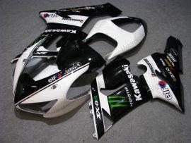 Kawasaki NINJA ZX6R 2005-2006 Carénage ABS Injection - Monster - noir/blanc