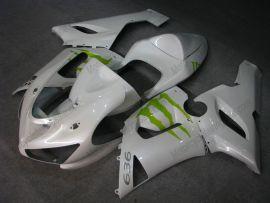 Kawasaki NINJA ZX6R 2005-2006 Carénage ABS Injection - Monster - blanc