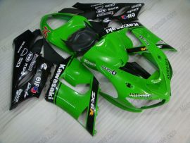 Kawasaki NINJA ZX6R 2005-2006 Carénage ABS Injection - Nakano - vert/noir