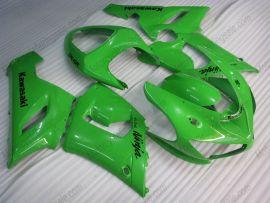 Kawasaki NINJA ZX6R 2005-2006 Carénage ABS Injection - autres - tout vert